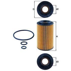 Ölfilter Ø: 64,3mm, Ø: 64,3mm, Innendurchmesser 2: 31mm, Höhe: 115mm, Höhe 1: 105mm mit OEM-Nummer A651 180 00 09