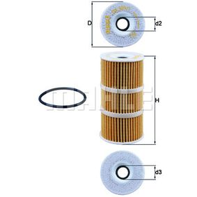 Oil Filter Ø: 57,0mm, Inner Diameter 2: 17,5mm, Height 1: 112,0mm with OEM Number A6261840000