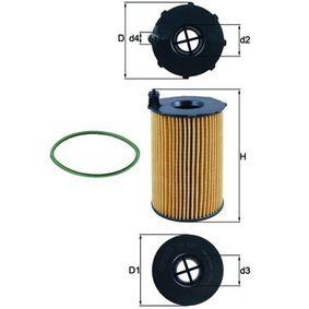 Ölfilter Ø: 76,0mm, Innendurchmesser 2: 28,55mm, Höhe: 127,5mm, Höhe 1: 109,0mm mit OEM-Nummer 059 115 561 D