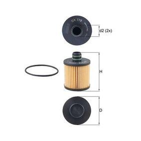 Ölfilter Ø: 72,1mm, Höhe: 100,8mm, Höhe 1: 73,5mm mit OEM-Nummer 95511489