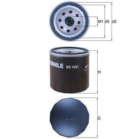 Ölfilter Ø: 76,0mm, Außendurchmesser 2: 72mm, Ø: 76,0mm, Innendurchmesser 2: 62mm, Innendurchmesser 2: 62mm, Höhe: 74mm mit OEM-Nummer BM5G 6714 AA