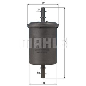 Kraftstofffilter Höhe: 142mm, Gehäusedurchmesser: 55mm mit OEM-Nummer 6001 543 138