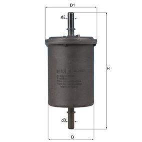 Kraftstofffilter Höhe: 142mm mit OEM-Nummer 8200 386 495