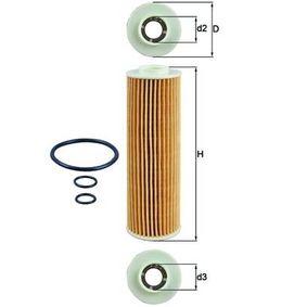 Ölfilter Ø: 46,3mm, Innendurchmesser 2: 21,5mm, Höhe: 156,6mm, Höhe 1: 148,0mm mit OEM-Nummer 2711840525