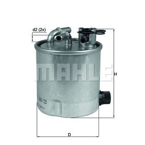 Fuel filter Height: 120mm with OEM Number 16400JX51A