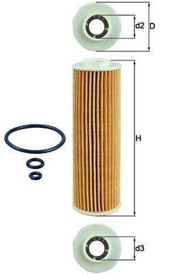 Motorölfilter OX 183/5D1 KNECHT 000000000000000000000OX1835D1ECO in Original Qualität