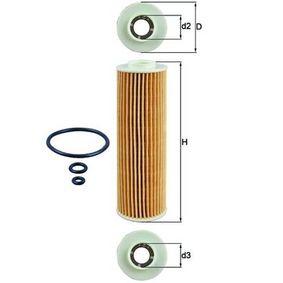 Ölfilter Ø: 46,3mm, Innendurchmesser 2: 21,5mm, Höhe: 156,6mm, Höhe 1: 148,0mm mit OEM-Nummer 2711840425