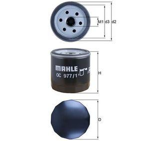 KNECHT  OC 977/1 Ölfilter Ø: 76,0mm, Innendurchmesser 2: 62,0mm, Höhe: 79,0mm