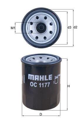 KNECHT  OC 1177 Ölfilter Ø: 65,5mm, Außendurchmesser 2: 63mm, Ø: 65,5mm, Innendurchmesser 2: 52mm, Innendurchmesser 2: 52mm, Höhe: 86mm