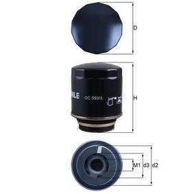 Ölfilter Ø: 76,0mm, Ø: 76,0mm, Höhe: 98mm mit OEM-Nummer 03C115561H