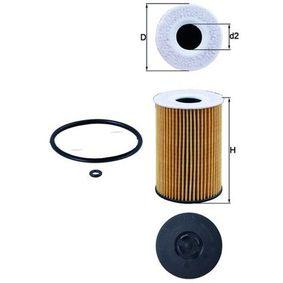 Ölfilter Ø: 65,0mm, Innendurchmesser 2: 26mm, Höhe: 101mm, Höhe 1: 95mm mit OEM-Nummer 03N115466