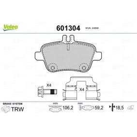 Bremsbelagsatz, Scheibenbremse Breite: 106,2mm, Höhe: 59,2mm, Dicke/Stärke: 18,50mm mit OEM-Nummer A00 742 09 420