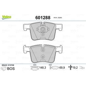 Brake Pad Set, disc brake 601288 3 Saloon (F30, F80) 320d 2.0 MY 2018