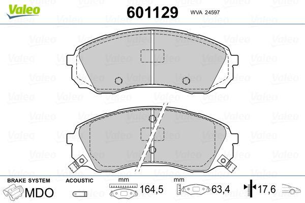 Bremsbeläge 601129 VALEO 601129 in Original Qualität