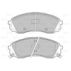 Bremsbelagsatz, Scheibenbremse Breite 1: 164,5mm, Höhe 1: 63,4mm, Dicke/Stärke 1: 17,6mm mit OEM-Nummer 58101-4DE00