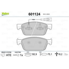 Bremsbelagsatz, Scheibenbremse Breite: 192,9mm, Höhe: 75,1mm, Dicke/Stärke: 18,2mm mit OEM-Nummer 7E0 698 151C