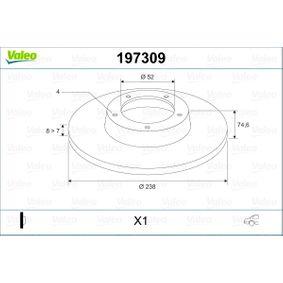 Bremsscheibe Bremsscheibendicke: 8mm, Felge: 4-loch, Ø: 238mm mit OEM-Nummer 7700 805 148