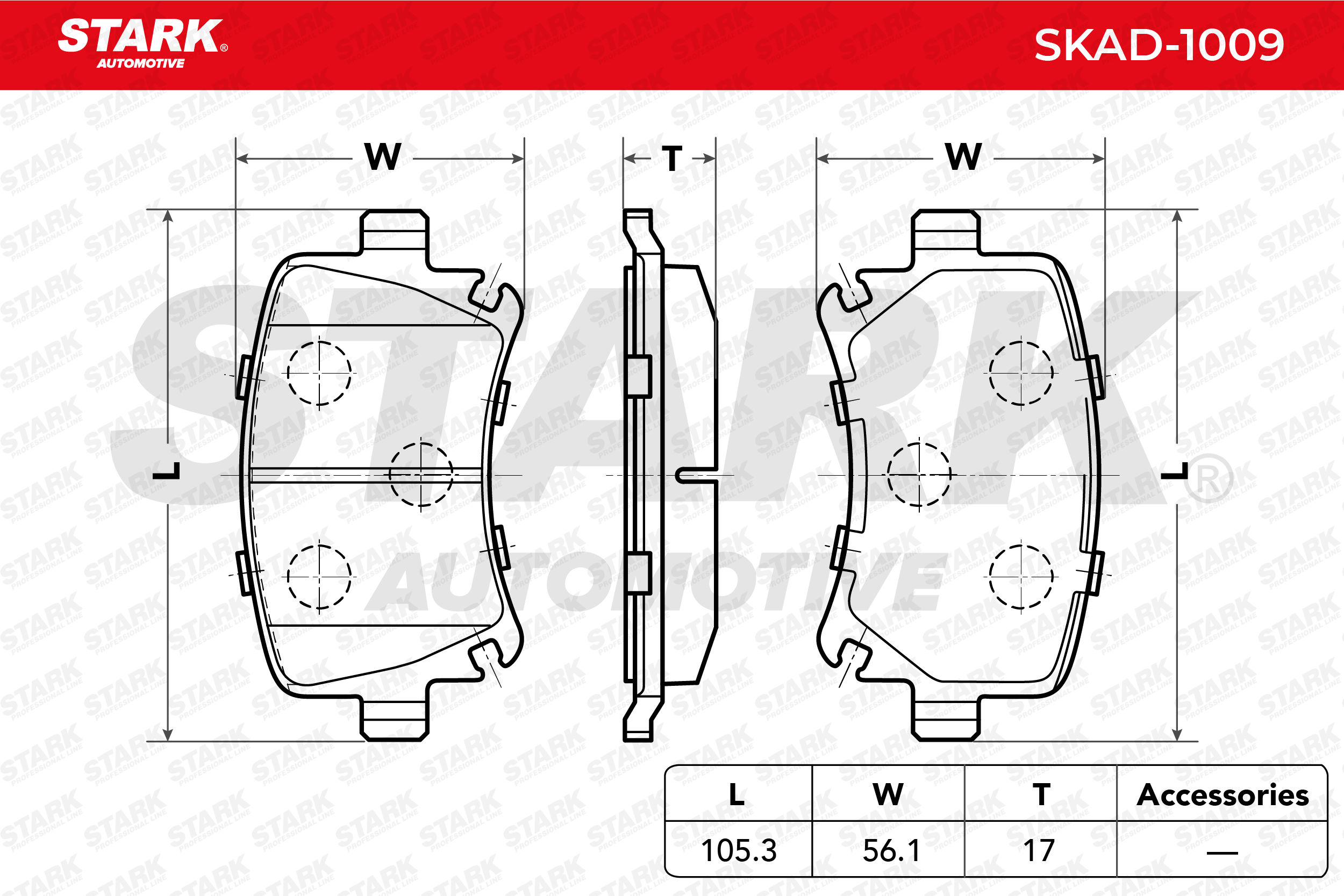 Bremseklosser STARK SKAD-1009 fagkunnskap