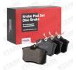 Bremssteine SKODA Rapid Spaceback (NH1) 2014 Baujahr SKAD-1028 Hinterachse, nicht für Verschleißwarnanzeiger vorbereitet
