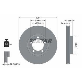 Bremsscheibe Bremsscheibendicke: 24,3mm, Ø: 254mm mit OEM-Nummer 5025610