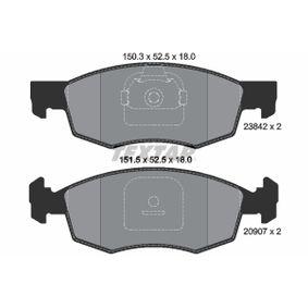 Bremsbelagsatz, Scheibenbremse Breite 1: 150,3mm, Breite 2: 151,5mm, Höhe 2: 52,5mm, Dicke/Stärke: 18mm mit OEM-Nummer 9948870
