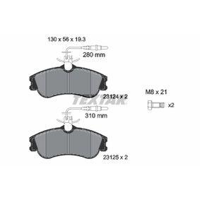 TEXTAR  2312401 Bremsbelagsatz, Scheibenbremse Breite: 130mm, Höhe: 56mm, Dicke/Stärke: 19,3mm