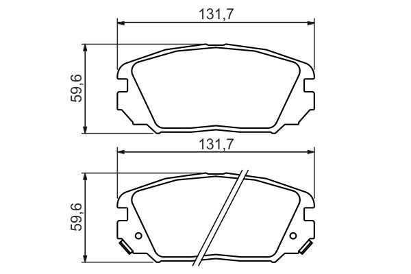 BOSCH  0 986 494 378 Bremsbelagsatz, Scheibenbremse Breite: 131,7mm, Höhe: 59,6mm, Dicke/Stärke: 17,8mm