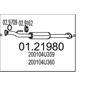 Nissan Almera Tino 2.2dCi Auspuffrohre MTS 01.21980 (2.2 dCi Diesel 2006 YD22DDT)