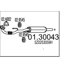 Vorschalldämpfer mit OEM-Nummer 5Z0253059H