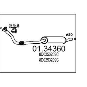 MTS Toba esapament primara 01.34360 cu OEM Numar 8D0253209C