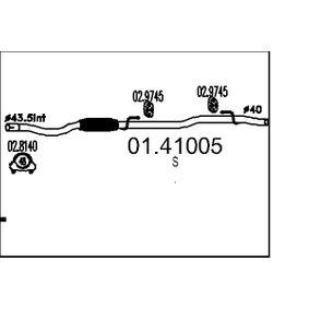 Exhaust Pipe 01.41005 PANDA (169) 1.2 MY 2004