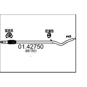 Exhaust Pipe 01.42750 PANDA (169) 1.2 MY 2012
