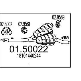 Mittelschalldämpfer 01.50022 5 Touring (E39) 528i 2.8 Bj 1998