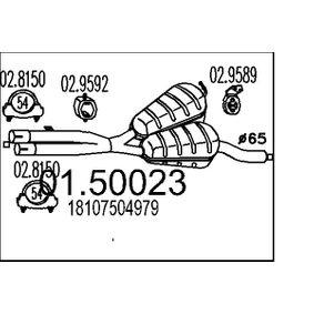 Mittelschalldämpfer 01.50023 5 Touring (E39) 530i 3.0 Bj 2004