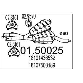 Mittelschalldämpfer 01.50025 5 Touring (E39) 528i 2.8 Bj 2000