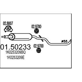 Golf 5 2.0TDI 16V Mittelschalldämpfer MTS 01.50233 (2.0 TDI 16V Diesel 2008 BKD)