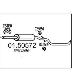 Golf 5 2.0SDI Mittelschalldämpfer MTS 01.50572 (2.0 SDI Diesel 2004 BDK)