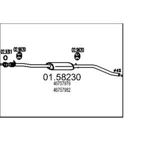 Middle Silencer 01.58230 PUNTO (188) 1.2 16V 80 MY 2000