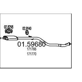 Mittelschalldämpfer mit OEM-Nummer 171766