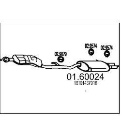 Endschalldämpfer Länge: 0mm mit OEM-Nummer 18 10 1 437 916