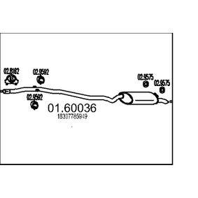 Endschalldämpfer 01.60036 5 Touring (E39) 520d 2.0 Bj 2003