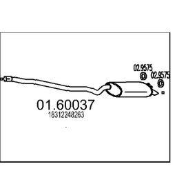 Endschalldämpfer Länge: 0mm mit OEM-Nummer 18 31 2 248 263