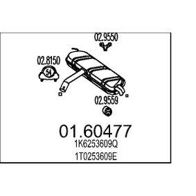 Touran 1T1, 1T2 1.9TDI Endschalldämpfer MTS 01.60477 (1.9TDI Diesel 2010 BXE)