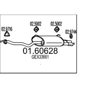 Крайно гърне 01.60628 800 (XS) 2.0 I/SI Г.П. 1997