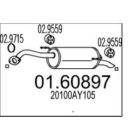 Nissan Note e11 1.5dCi Endschalldämpfer MTS 01.60897 (1.5 dCi Diesel 2011 K9K 276)