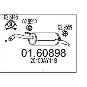 Nissan Note e11 1.5dCi Endschalldämpfer MTS 01.60898 (1.5 dCi Diesel 2010 K9K 276)