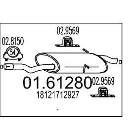 MTS  01.61280 Endschalldämpfer Länge: 1200mm
