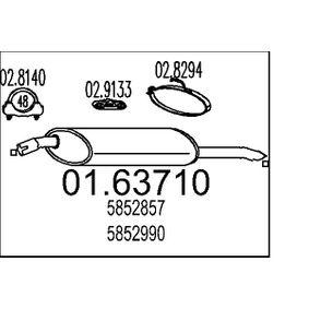Endschalldämpfer Länge: 920mm, Länge: 920mm mit OEM-Nummer 852 931