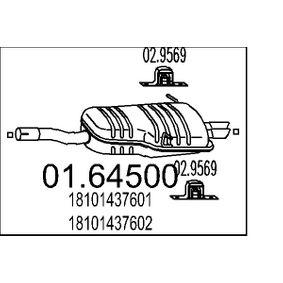 Pot d'Échappement pour BMW 3 Coupe (E46) 323 Ci 1999 170