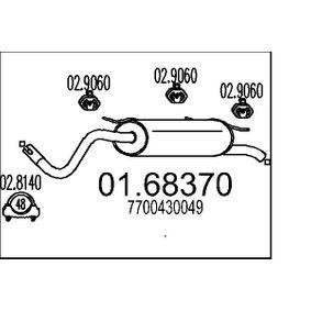 Endschalldämpfer Länge: 1320mm mit OEM-Nummer 77 00 430 049